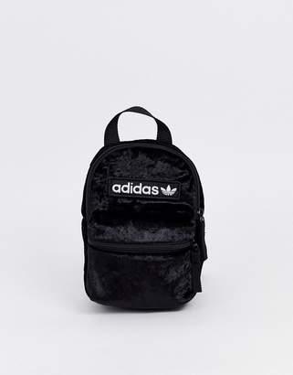 adidas velvet mini backpack in black