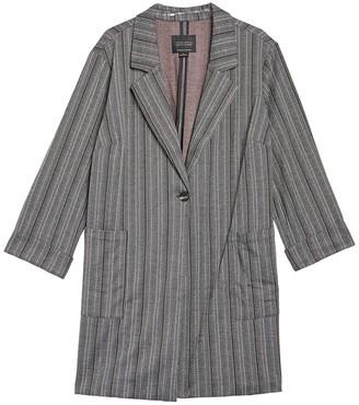 Sanctuary Herringbone City Coat Blazer (Plus Size)