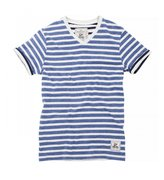 Brave Soul Mens Boson Short Sleeve Contrast Striped T-Shirt (M)