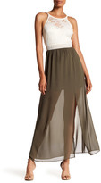 Amy Byer A. Byer Floral Lace Maxi Dress