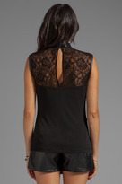 Yigal Azrouel Cut25 by Lace Yoke Tank