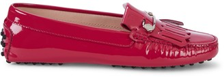Tod's Heaven Fringe Patent Leather Loafers