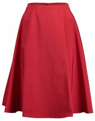 Lanvin Seam Detail Flare Skirt