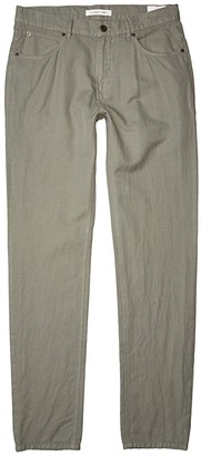 Billy Reid Cotton Linen Five-Pocket Pants (Steel Green) Men's Casual Pants