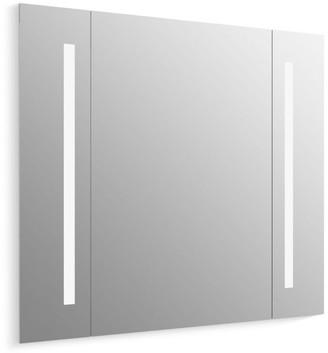 "Kohler K-99573-TLC Verdera 34"" x 33"" Lighted Frameless Bathroom Mirror with Pivoting Side Mirrors - CA Title 24 Compliant"