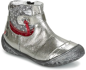 GBB NYMPHE girls's Mid Boots in Silver