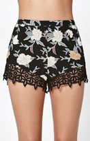 KENDALL + KYLIE Kendall & Kylie Zigzag Lace Trim Soft Shorts