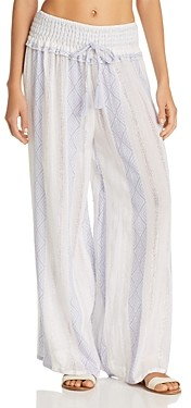 Surf.Gypsy Woven Stripe Wide-Leg Swim Cover-Up Pants