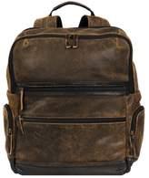 Wilsons Leather Mens Landon Crackle Leather Backpack
