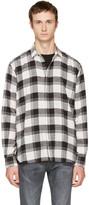 Saint Laurent White & Black Check Shirt
