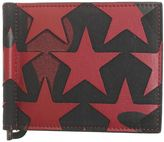 Valentino Garavani Black And Red Camoustars Leather Wallet