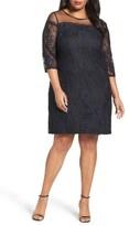Adrianna Papell Plus Size Women's Adele Lace Shift Dress