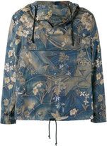 Dries Van Noten all-over print, hooded jacket with front pocket