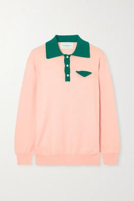 Casablanca - Casa Two-tone Cotton Sweater - Pink