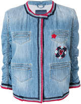 Ermanno Scervino embroidered trim denim jacket