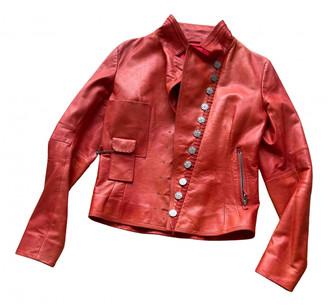 Marithé + François Girbaud Marithe & Francois Red Leather Leather jackets