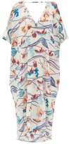 Le Sirenuse Le Sirenuse, Positano - Sasha Magic Flower-print Cotton-voile Kaftan - Womens - Cream Print