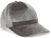 Brunello Cucinelli Beaded Velvet Baseball Cap - Silver