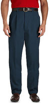 Harbor Bay Waist-Relaxer Twill Pleated Pants Casual Male XL
