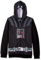 Star Wars Men's Darth Vader Character Zip Front Hoodie