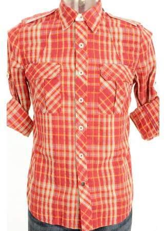 Denham Jeans Grain MM Shirt Red