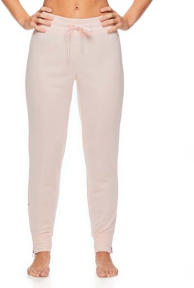Gaiam X Jessica Biel Women's Sweatpants SOFT - Soft Pink Monterey Zip-Accent Sweatpants - Women
