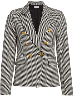 A.L.C. Alton Double-Breasted Houndstooth Blazer