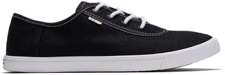 Toms Black Heritage Canvas Contrast Stitching Women's Carmel Sneakers Topanga Collection