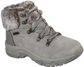 Skechers Trego Walking Lace Up Ankle Boot - Taupe