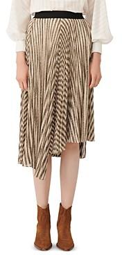 Maje Jungla Asymmetrical Striped Skirt