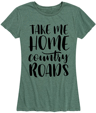 Instant Message Women's Women's Tee Shirts HEATHER - Heather Juniper 'Take Me Home Country Roads' Relaxed-Fit Tee - Women