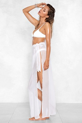 Nasty Gal Womens How the Years Tie By Sarong Skirt - white - 8