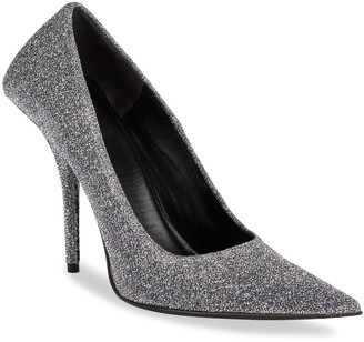 Balenciaga 80mm Square-Back Metallic Knife Pumps