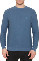 Original Penguin Link Stitch Crew Neck Jumper, Dark Denu