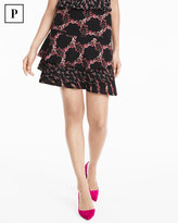 White House Black Market Petite Mixed Floral Print Skirt