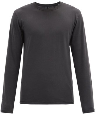 Rag & Bone Base Long-sleeved Organic-cotton Jersey T-shirt - Black