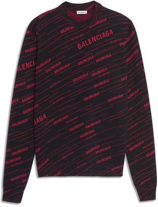 Balenciaga Long Sleeves Crewneck Print