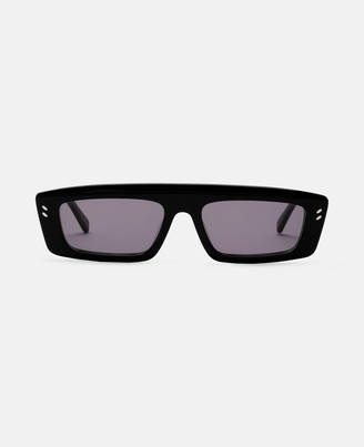 Stella McCartney shiny black square sunglasses