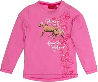 Salt&Pepper Salt and Pepper Girl's Longsleeve Horses Photoprint T-Shirt