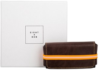 Eight & Bob Chocolate Brown Leather Fragrance Case 30ml