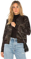 Bailey 44 Camo Jungle Bomber Jacket in Black. - size M (also in S,XS)