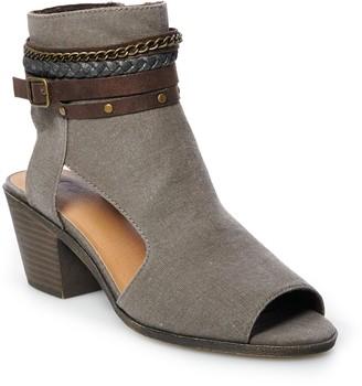 So Mustard Women's Peep Toe Boots