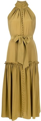 Zimmermann high neck flared dress