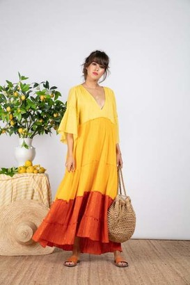 SUNDRESS Agathe Mix Orange Gold Dress