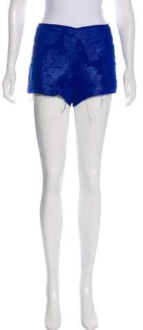 Frayed-Hem Mini Shorts