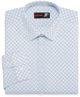 Jf J.Ferrar Easy-Care Stretch Big & Tall Long Sleeve Broadcloth Diamond Dress Shirt