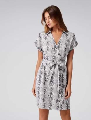 Ever New Rosie Asymmetrical Button Mini Dress