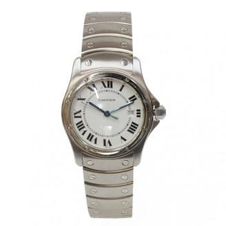 Cartier Silver Steel Watches