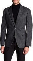 Tommy Hilfiger Ethan Gray Houndstooth Two Button Notch Lapel Classic Fit Sport Coat