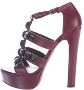 Alaia Embellished Platform Sandals